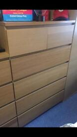 Ikea Malm Chest of Draws & Bedside Table
