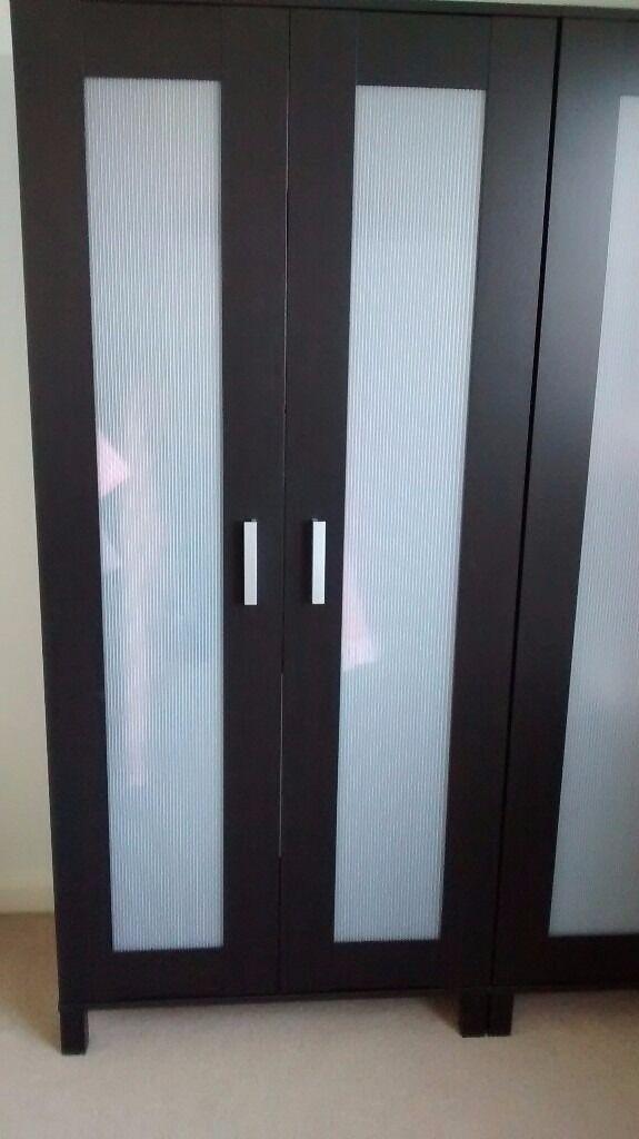 Ikea Aneboda Black Wardrobe In Aylesbury