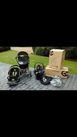 Oyster pushchair and cot bed