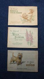 3 X VINTAGE CIGARETTE CARDS IN ALBUMS £5.00
