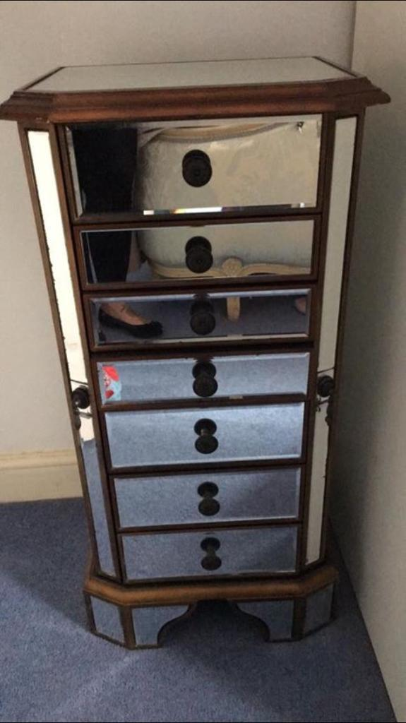Vintage jewellery cupboard