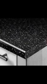 Black Sparkle Gloss KitchenWorktop