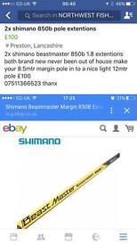 2x shimano 850b extentions