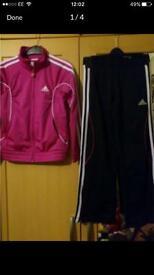 Girl's Adidas tracksuit