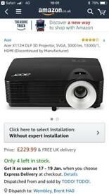 acer 3d hdmi x112h projector