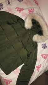Top shop furry coat