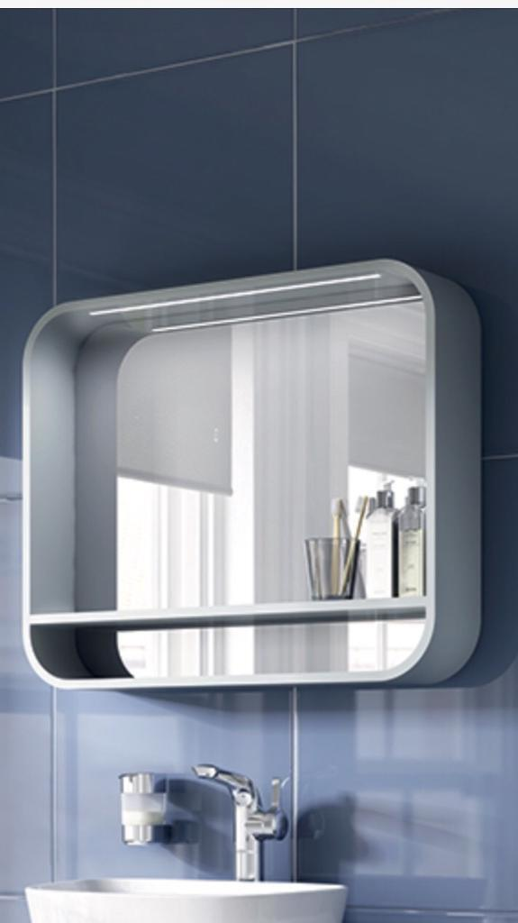Bathroom Mirrors Gumtree ideal standard dea 800mm bathroom mirror unit with shelf and led
