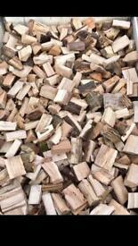 Cut dried seasoned hardwood logs
