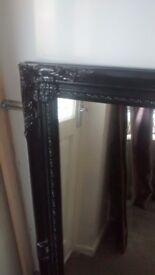 Black ornate frame mirror