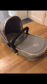 Icandy carrycot pram silver mint