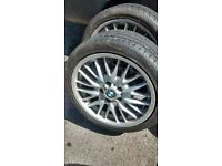 BMW MV1 REAR ALLOY 8.5j x18 255/35/ZR18 WITH GOOD LEGAL TYRE