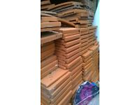 Approx 4000 Sandtoft 501 roof tiles- orangey red unused