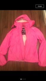 Pink windcheater jacket