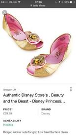 Beauty and the beast belle shoes size 7-8 immaculate