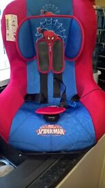 child car seat Spider-Man style