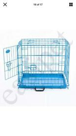 "24"" New Blue Foldable Dog/Puppy Crate"