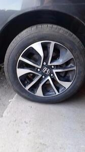 205 55 16 tires on OEM Honda Civic  alloy rims 5 x 114.3 from $600 set