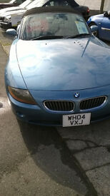 BMW Z4 Sports Convertible. 2.2 6 cylinder. Maldive metallic Blue.Straight from Japan.Lovely!