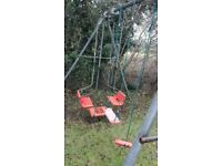 TP Triple Metal Swing Set (used) with extension !