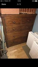 Lovely large set of wooden drawers