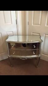 Mirrored Two Drawers Chest (New)