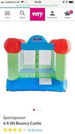 Kids indoor or outdoor bouncy castle