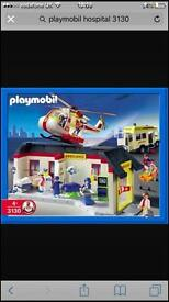 Playmobil 3130 boxed as new hospital ambulance helicopter