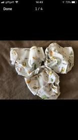 POPOLIN MEDIUM VENTO COVERS WRAPS FOR FABRIC NAPPIES JUNGLE THEMED