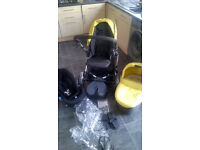 Mamas & Papas pushchair with carry cot and car seat