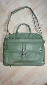 Green Leather Laptop Bag - Only used once