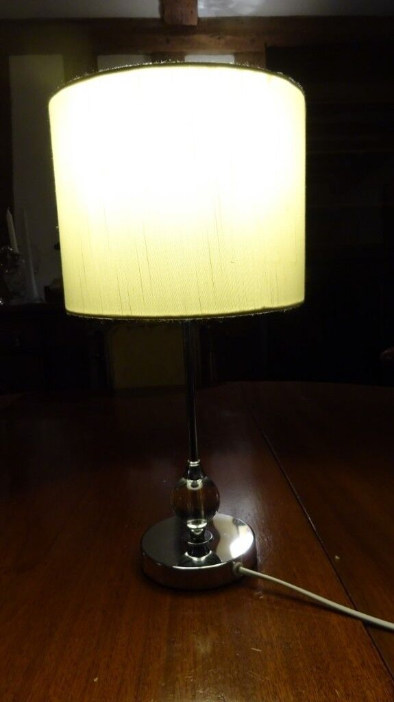 Simply Designed Chrome Lamp With Perspex Feature With White Shade In Bramford Suffolk Gumtree