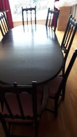Ercol Dining Table and 8 chairs