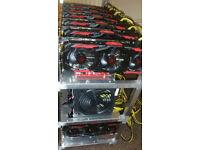 12 GPU CRYPTO Mining Rig Ethereum 320 mh/s ubq 340 mh/s Zcash Monero Sia Decred Pascal