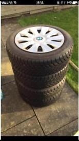 Set of steel wheels and Winter tyres for BMW 1 series (F20) model