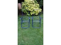 SOLD! SOLD! Sun Lounger Metal Folding Reclining Chairs Outdoor Patio / Conservatory Relaxer *2