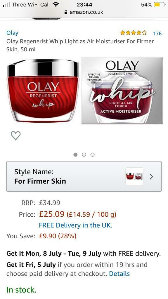 New&Sealed Olay Regenerist Whip Moisturiser | in Plymouth, Devon | Gumtree