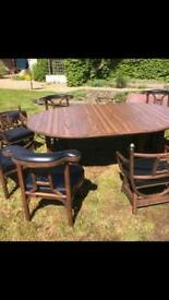 Antique table and chairs £250