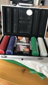 Poker chip set , brand new