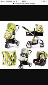 Cosatto Full Travel System with isofix base