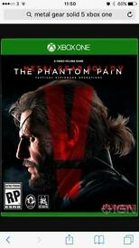 Metal gear solid V - Xbox one. £10