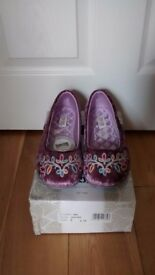 FREE-STEP LADIES LUXURY HEATHER SLIPPERS SIZE 6 - NEW IN BOX RRP £18