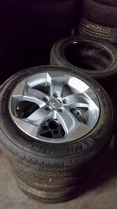 "Take Offs -- 215 55 17 Michelin Primacy 99% tread on OEM 17"" Honda HRV alloy rims"