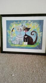 Quick sale Rosina Wachtmeister Picture of 2 Cats