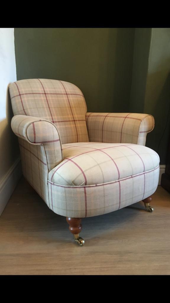 Laura Ashley Harbrook Checked Armchair