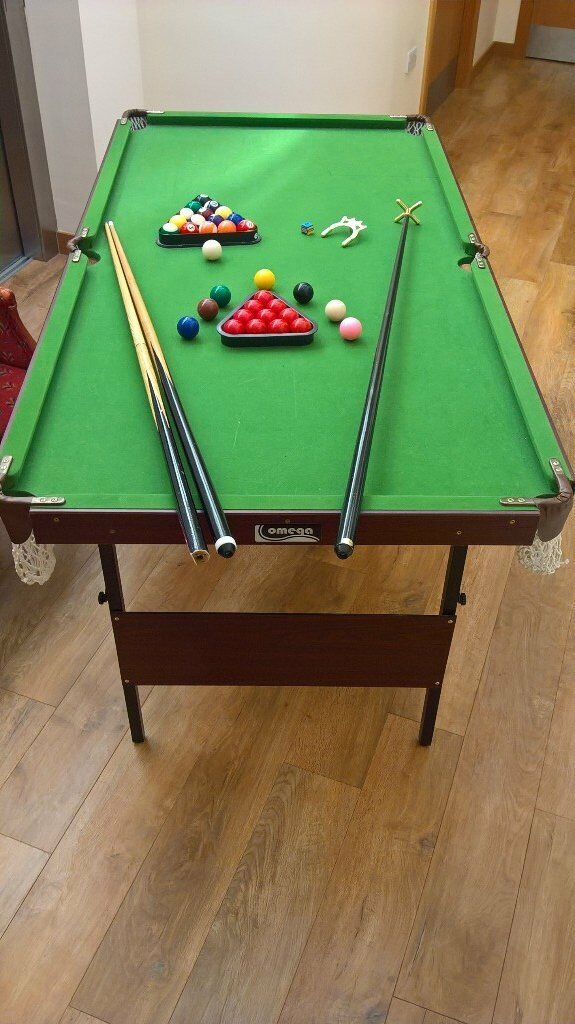Junior 5ft 10 Snooker/pool Table With Accessories