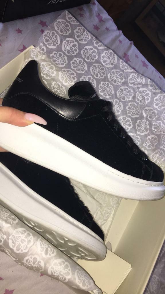 alexander mcqueen black trainers