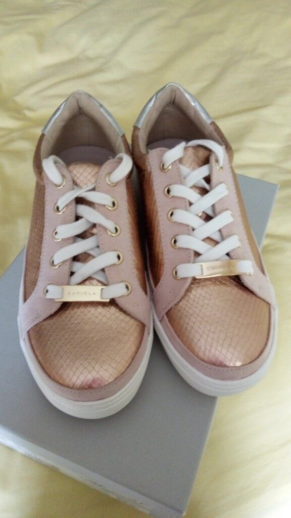 carvela trainers rose gold cheap online