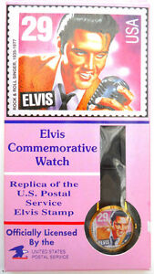 ELVIS-PRESLEY-COMMEMORATIVE-USPS-WATCH-MIB