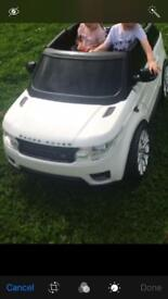 2 seater Range Rover electric car