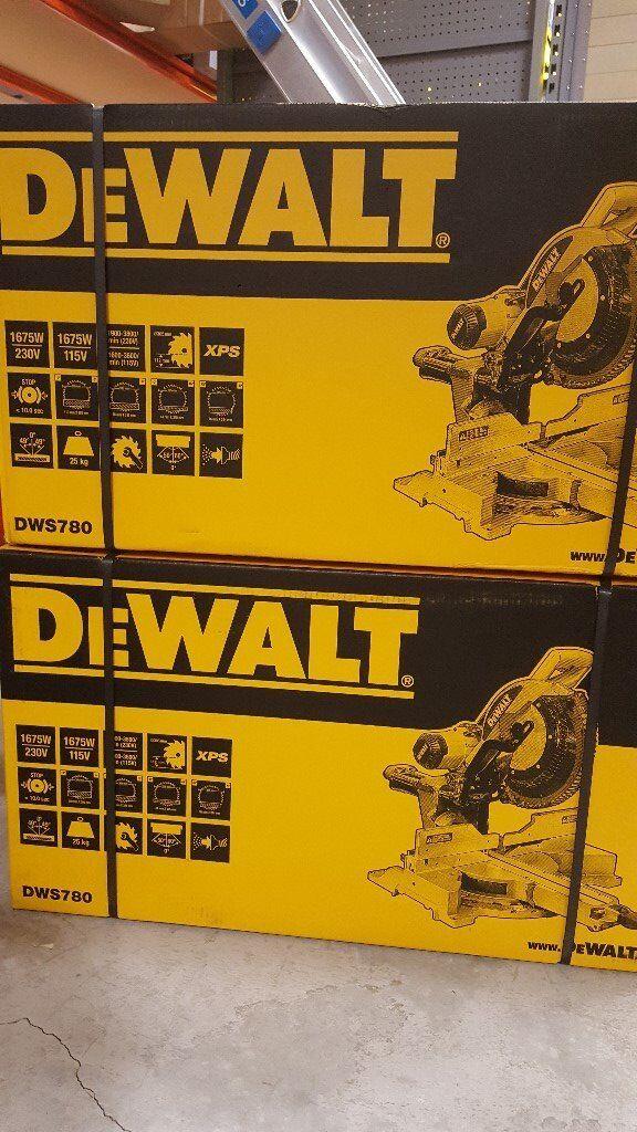"DEWALT DWS780 12"" MITRE SAW'S 110V **BRAND NEW**"